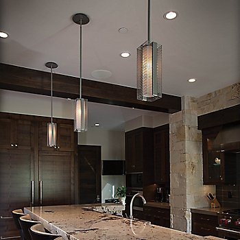 Downtown Mesh Pendant Light / in use
