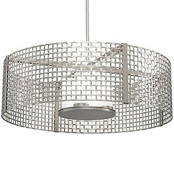 "Tweed 36"" Drum Pendant Light"