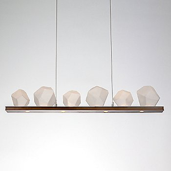 Rubbed Bronze finish / Frosted Glass shade / 9 light