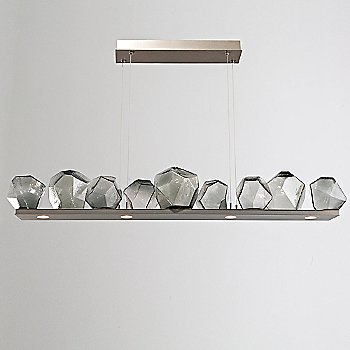 Metallic Beige Silver finish / Smoke Glass shade / 9 light