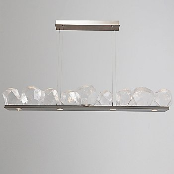 Metallic Beige Silver / Clear Glass shade / 9 light