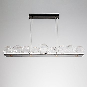 Gunmetal finish / Clear Glass shade / 9 light