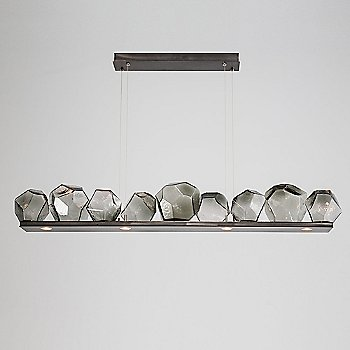 Gunmetal finish / Smoke Glass shade / 9 light