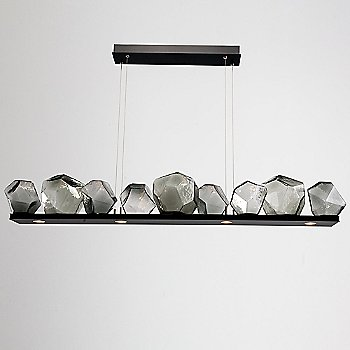 Matte Black finish / Smoke Glass shade / 9 light