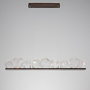 Rubbed Bronze finish / Clear Glass shade / 9 light