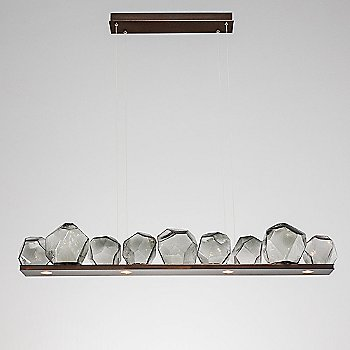 Rubbed Bronze finish / Smoke Glass shade / 9 light