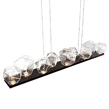 Flat Bronze finish / Clear Glass shade detail / 9 light