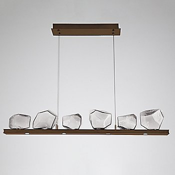 Clear Glass shade / Oil Rubbed Bronze finish