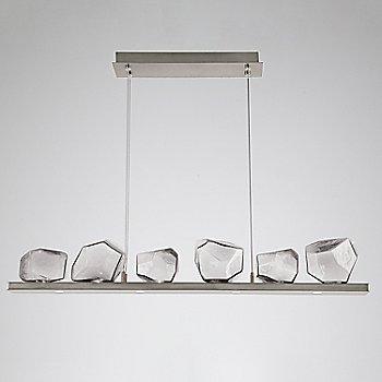 Clear Glass shade / Metallic Beige Silver finish