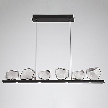 Clear Glass shade / Matte Black finish