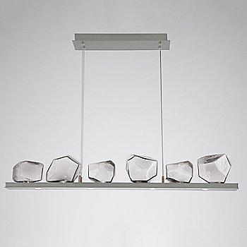 Clear Glass shade / Satin Nickel finish