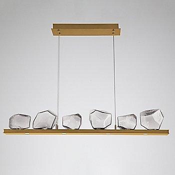Clear Glass shade / Gilded Brass finish