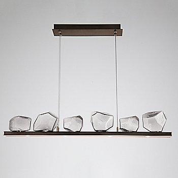 Clear Glass shade / Flat Bronze finish