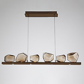 Bronze Glass shade / Oil Rubbed Bronze finish
