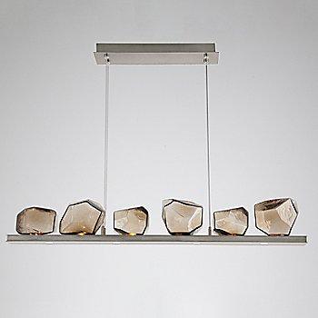Bronze Glass shade / Metallic Beige Silver finish
