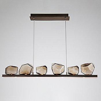 Bronze Glass shade / Flat Bronze finish