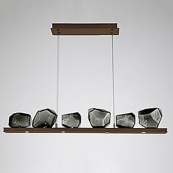 Smoke Glass shade / Oil Rubbed Bronze finish