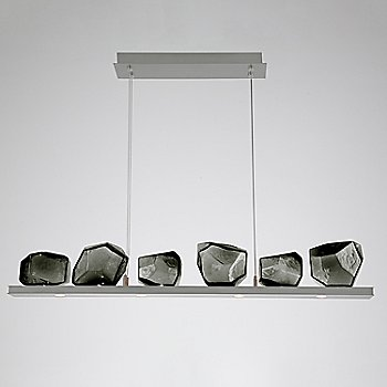 Smoke Glass shade / Satin Nickel finish