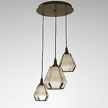 Bronze Glass / Flat Bronze finish / 3 Light