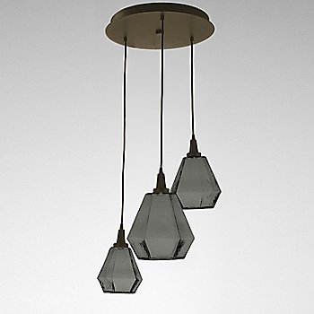 Smoke Glass / Flat Bronze finish / 3 Light
