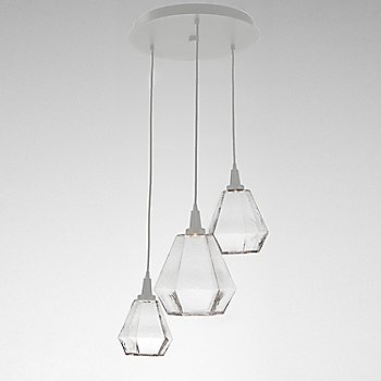 Clear Glass / Metallic Beige Silver finish / 3 Light