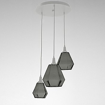 Smoke Glass / Metallic Beige Silver finish / 3 Light