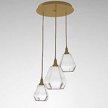 Clear Glass / Gilded Brass finish / 3 Light