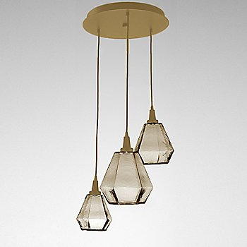 Bronze Glass / Gilded Brass finish / 3 Light