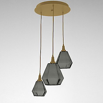 Smoke Glass / Gilded Brass finish / 3 Light