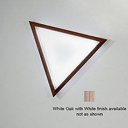 Triangle LED Wall Sconce (White Oak with White/Small) - OPEN BOX RETURN