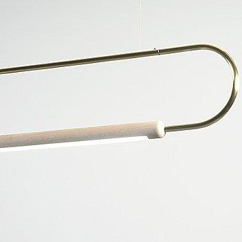Metal: Brass / Oak: White / Horizontal Position / Detail view