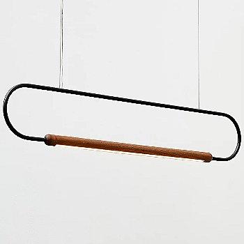 Metal: Black / Wood: Walnut / 4 ft / Horizontal Position