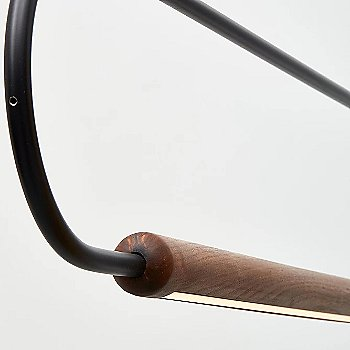 Metal: Black / Wood: Walnut / Horizontal Position / Detail view