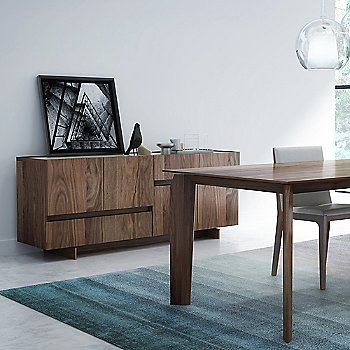 Light Natural Walnut Wood finish / Cream Glass Lacquer color, in use