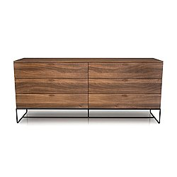 Linea 6 Drawer Dresser with Steel Base