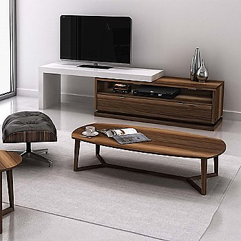 Natural Walnut Wood finish / Cream Lacquer color / Large size, in use