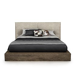 SILK Upholstered Storage Bed, Queen