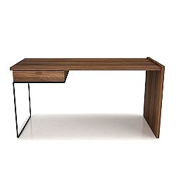 Linea Work Desk with Steel Legs