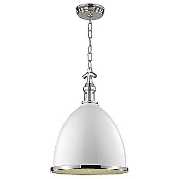 Shown in White with Polished Nickel finish, Small size