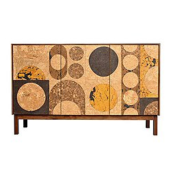Cork Mosaic Sideboard - Circle