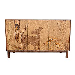 Cork Mosaic Sideboard - Forest