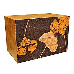 Ginko Leaf Cork Filing Cabinets