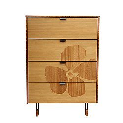 Green Mod: Flower Inlay Tall Dresser
