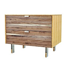 Green Mod: Wood Stripe Nightstand