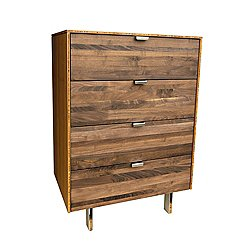 Green Mod: Wood Stripe Tall Dresser