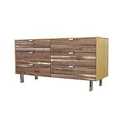 Green Mod: Wood Stripe Long Dresser
