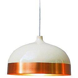 Glaze Dome Pendant (Copper/Cream/Small) - OPEN BOX RETURN