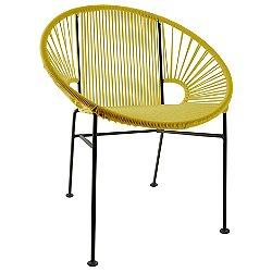 Concha Chair (Yellow/Black Finish) - OPEN BOX RETURN