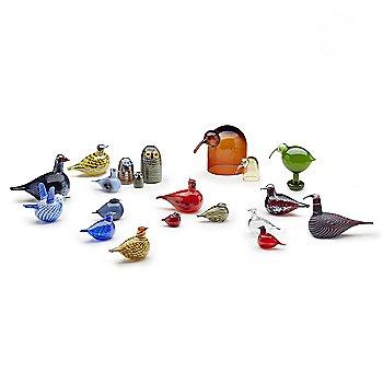 Toikka Bird - Ruby with iittala Toikka Anna, iittala Toikka Kiuru 2017 Annual Bird, iittala Toikka Little Barn Owl, iittala Toikka Kuulas Rain, iittala Toikka Barn Owl, iittala Toikka Blue Bird, iittala Toikka Red Cardinal and iittala Toikka Green Ibis