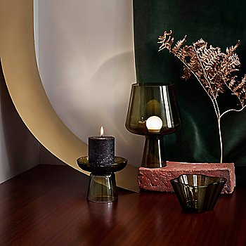 Nappula Pillar Candleholder with Aalto Bowl 3 In